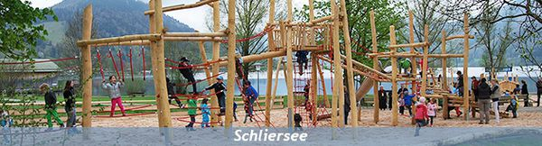 Playground at lake Schliersee