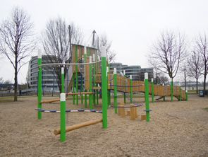 Pic: Playground at the inner harbour of Duisburg